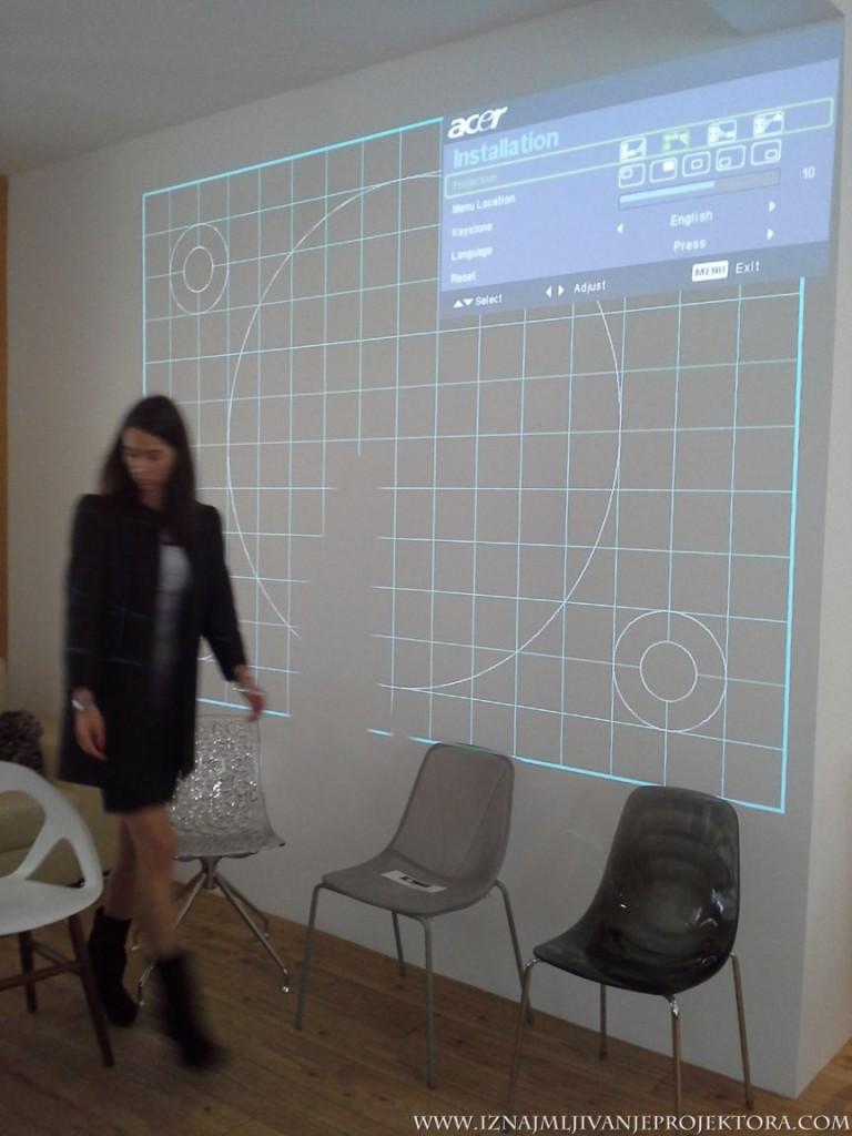 Salon nameštaja italijanski dizajn – Iznajmljivanje projektora
