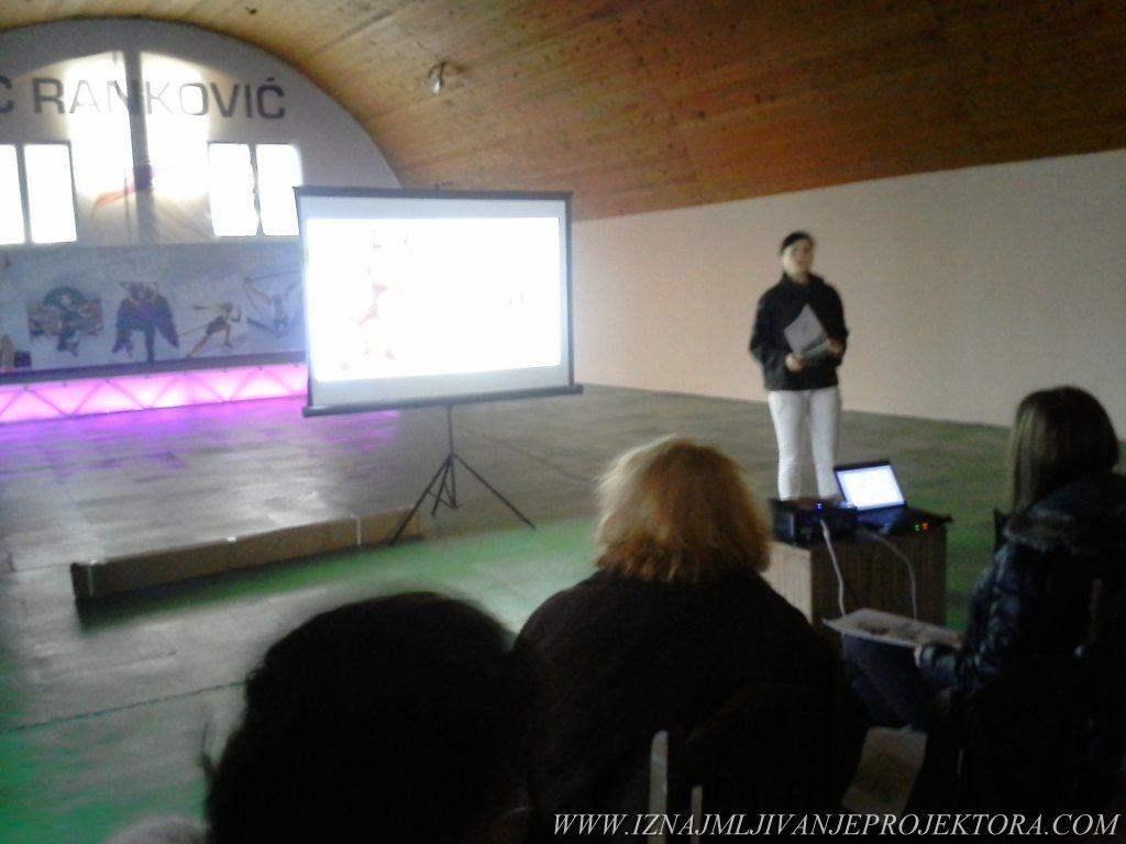 Iznajmljivanje projektora u Beogradu za promociju zdravog načina ishrane