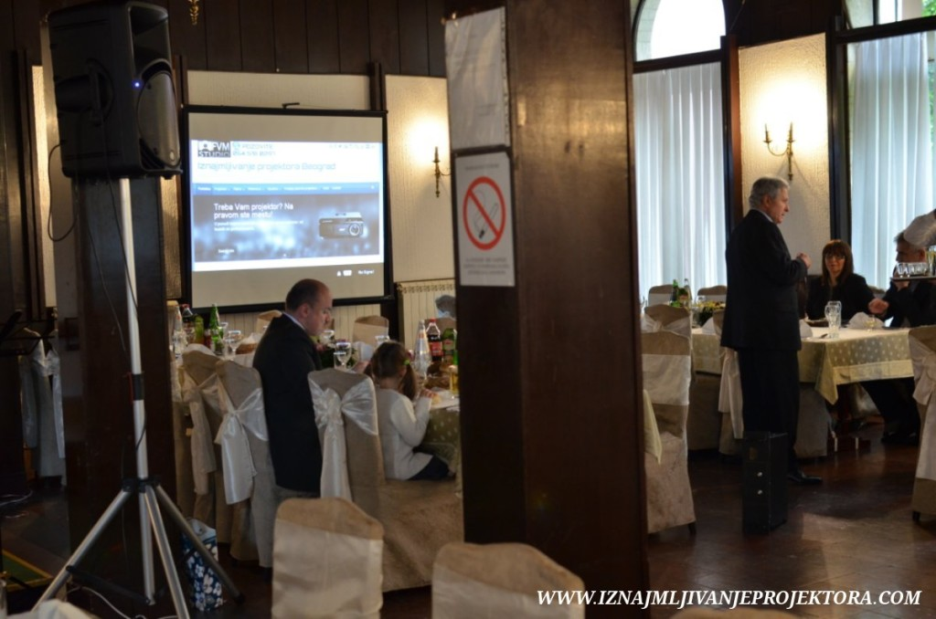 Svadba u restoranu Milošev konak u Beogradu – rentiranje projektora