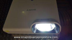 Iznajmljivanje širokougaonog projektora