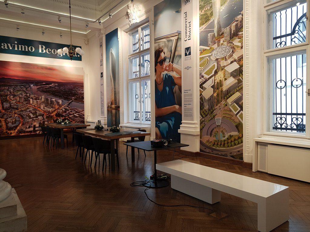 Promocija nove zgrade Beograd na vodi - Projektori