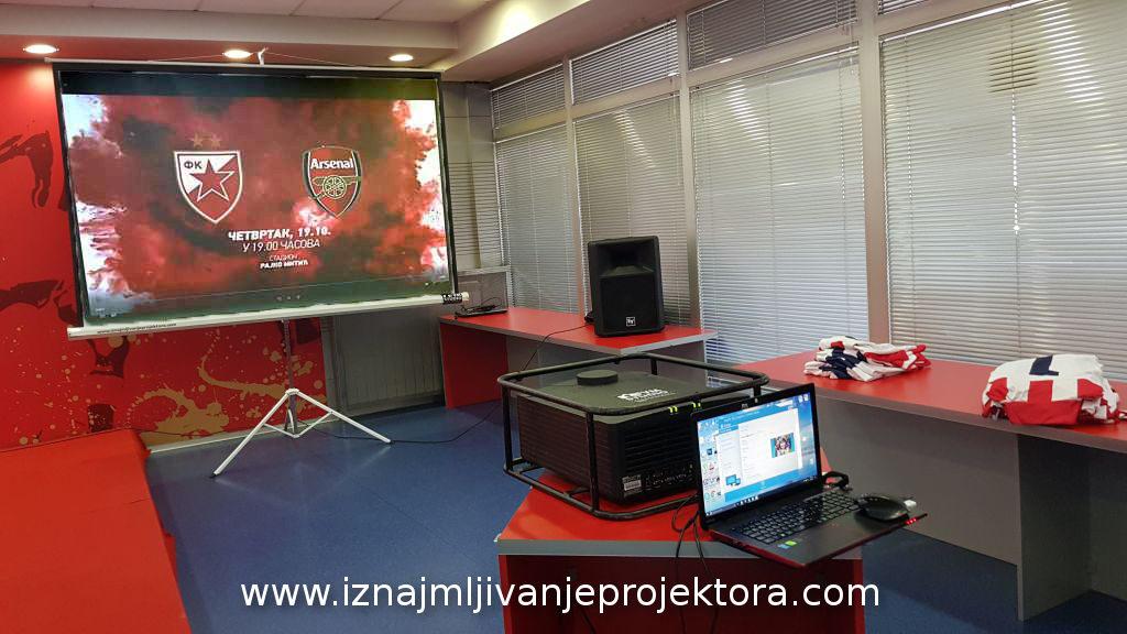 prikaz filma u Medija Centru Crvene Zvezde