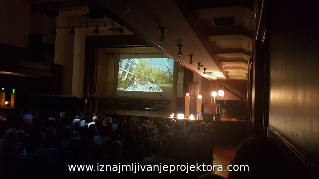 Projekcija filma u dvorani bioskopa Kolarac – BARCO projektor
