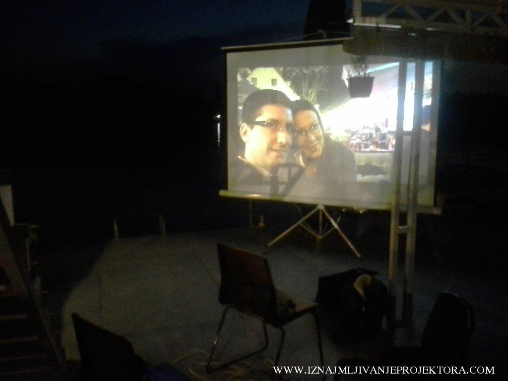 Iznajmljivanje projektora za svadbu na splavu Kod Žiće