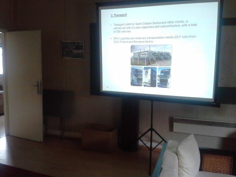 Prezentacija transporta – Saint Gobain – iznajmljivanje projektora