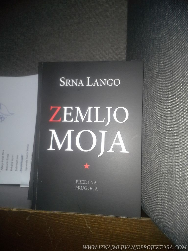 Rentiranje projektora za promociju knjige Zemljo moja pređi na drugoga – Srna Lango